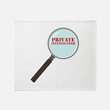 Private Investigator Throw Blanket