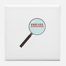 Private Investigator Tile Coaster