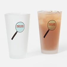 Private Investigator Drinking Glass