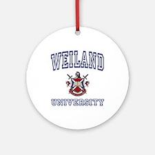 WEILAND University Ornament (Round)