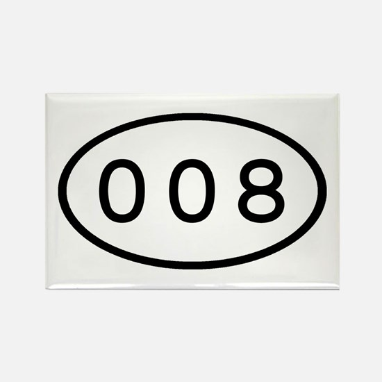 008 Oval Rectangle Magnet