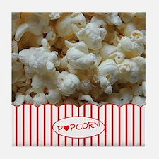 Popcorn Lover Tile Coaster