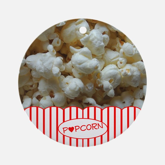 Popcorn Lover Ornament (Round)