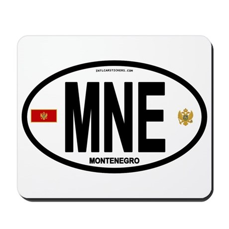 Montenegro Intl Oval Mousepad