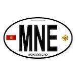 Montenegro Intl Oval Oval Sticker