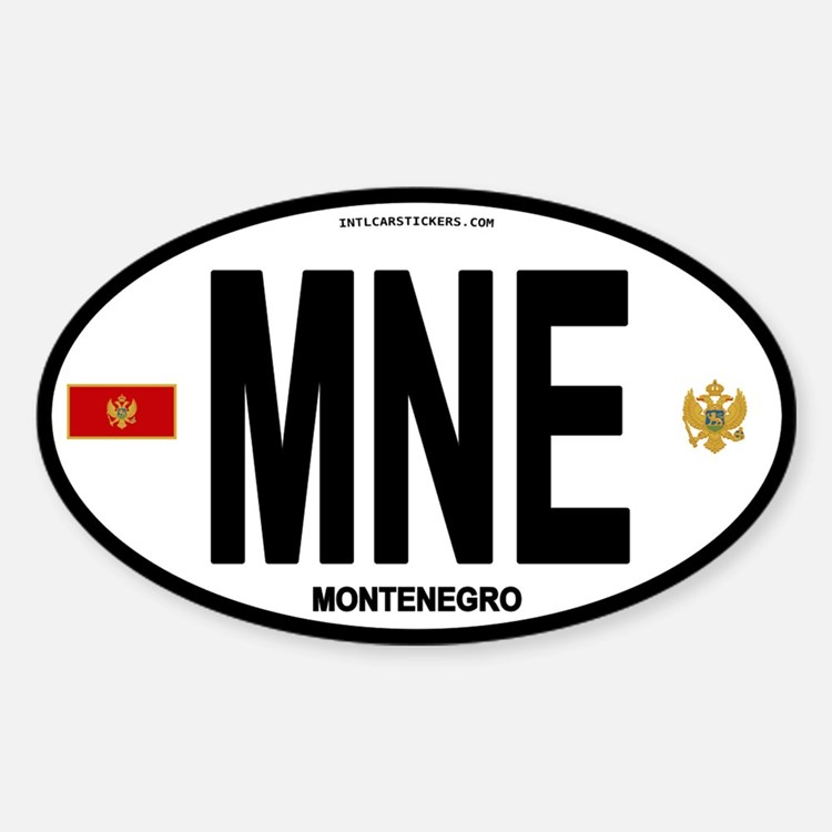 Montenegro Intl Oval Oval Decal