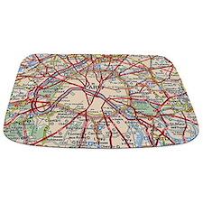 Map of Paris France Bathmat