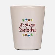 About Scrapbooking Shot Glass