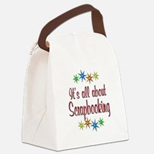 About Scrapbooking Canvas Lunch Bag