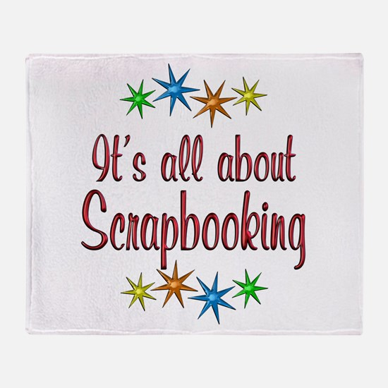 About Scrapbooking Throw Blanket