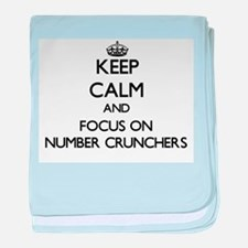 Keep Calm and focus on Number Crunche baby blanket
