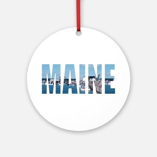 Maine Ornament (Round)