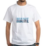 Maine Mens White T-shirts