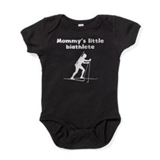 Mommys Little Biathlete Baby Bodysuit