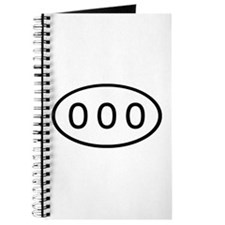 000 Oval Journal