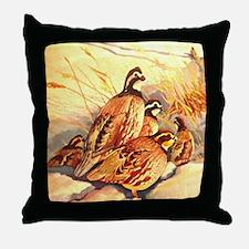 Bobwhite Quail Throw Pillow