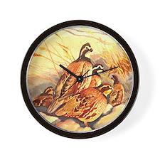 Bobwhite Quail Wall Clock