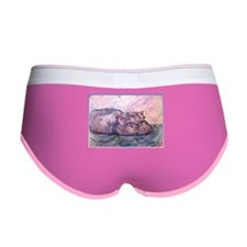 Hippo, wildlife art Women's Boy Brief
