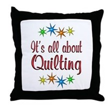About Quilting Throw Pillow