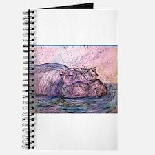 Hippo, wildlife art Journal
