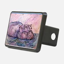 Hippo, wildlife art Hitch Cover