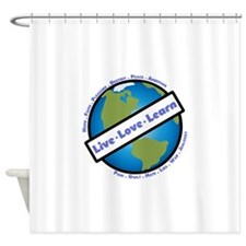 Live, Love, Learn Shower Curtain