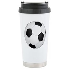 Soccer Ball Stainless Steel Travel Mug