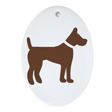 dog brown 1C Ornament (Oval)