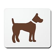 dog brown 1C Mousepad