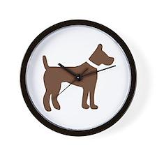 dog brown 1C Wall Clock