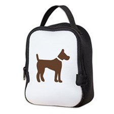 dog brown 1C Neoprene Lunch Bag