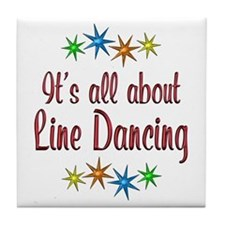 About Line Dancing Tile Coaster
