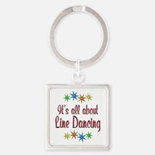About Line Dancing Square Keychain