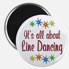 """About Line Dancing 2.25"""" Magnet (10 pack)"""