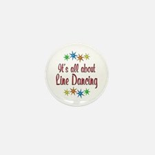 About Line Dancing Mini Button (10 pack)