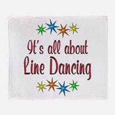 About Line Dancing Throw Blanket