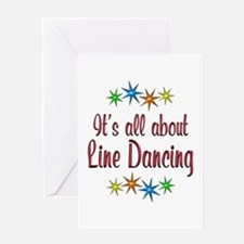About Line Dancing Greeting Card