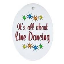 About Line Dancing Ornament (Oval)