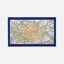 Map of London England 3'x5' Area Rug