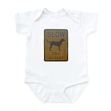 dog at play Infant Bodysuit