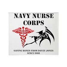 Navy Nurse Corps Reaper Throw Blanket