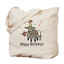 Birthday Cow Tote Bag