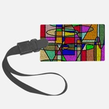 Abstract Stained Glass Luggage Tag