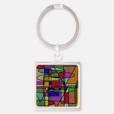 Abstract Stained Glass Keychains