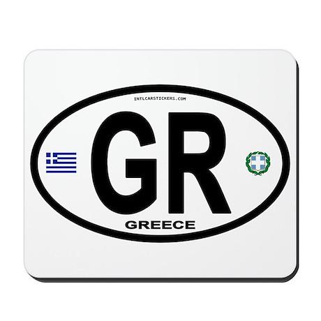 Greece Intl Oval Mousepad
