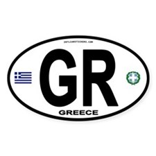 Greece Intl Oval Oval Decal
