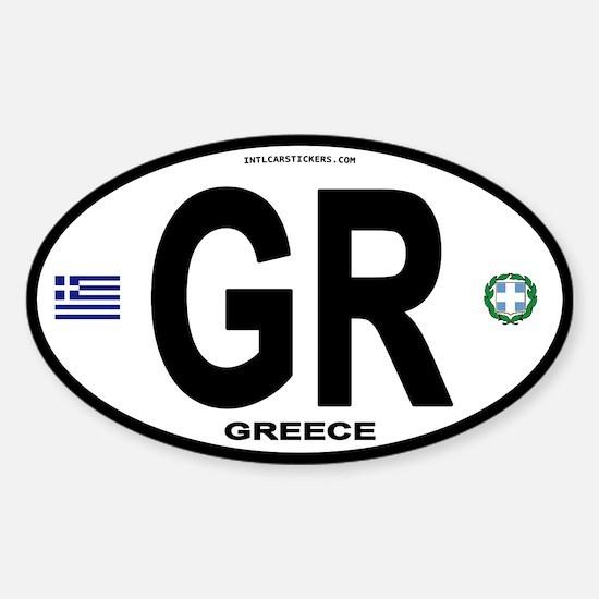 Greece Intl Oval Oval Decal