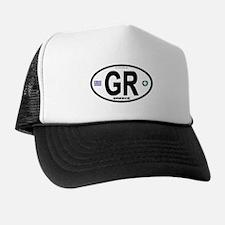 Greece Intl Oval Trucker Hat