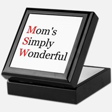 Mom's Simply Wonderful Keepsake Box