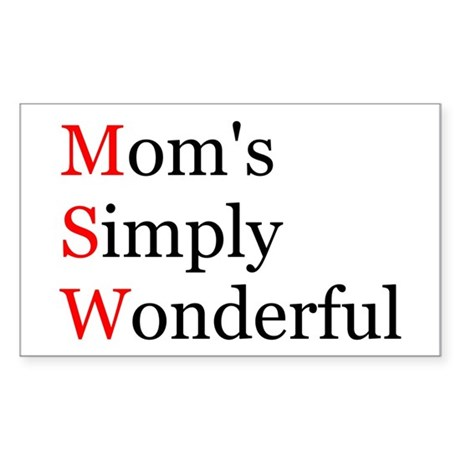 Mom's Simply Wonderful Rectangle Sticker
